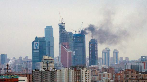 """Пожежа у """"Москва-сіті"""" у 2012 році"""
