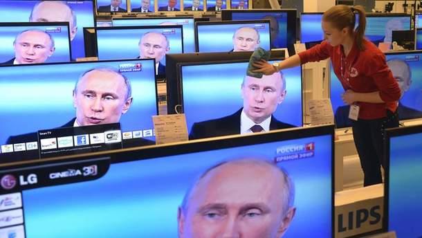 Путин на телеэкранах