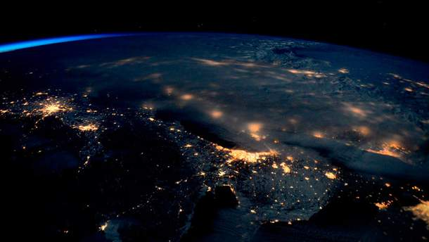 Буря в США из космоса