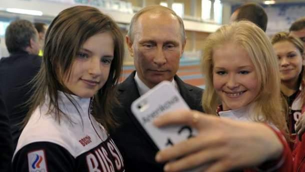 Владимир Путин и спортсменки