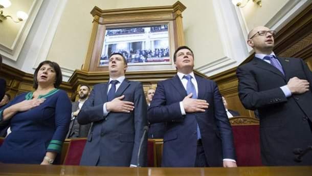 Кабмін на засіданні Верховної Ради