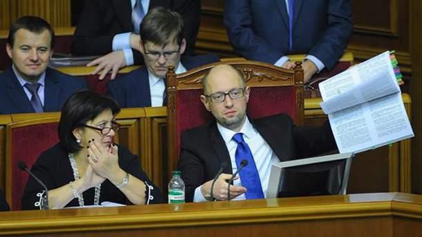 Арсений Яценюк в Раде