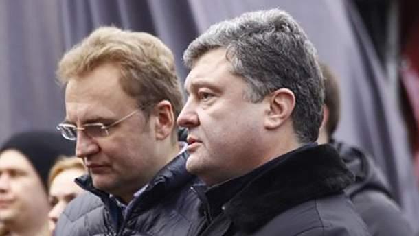 Андрій Садовий та Петро Порошенко