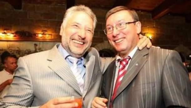 Павло Жебрівський і Юрій Луценко