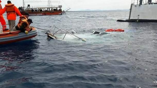 Човен з мігрантами
