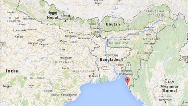 Место катастрофы самолета АН-26 в Бангладеш