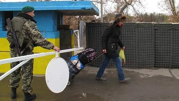 Пешеходный переход в Станице Луганской