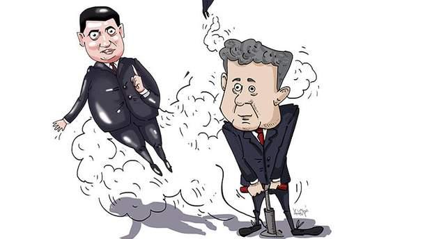 Картинки по запросу карикатура порошенко зеленский
