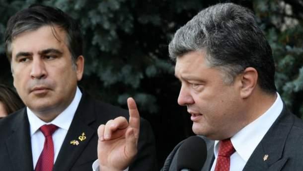 Петр Порошенко, Михеил Саакашвили