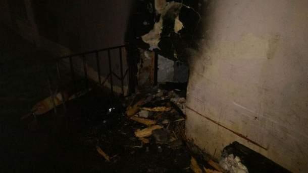 Последствия пожара в музее