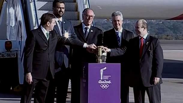Прибытие Олимпийского огня