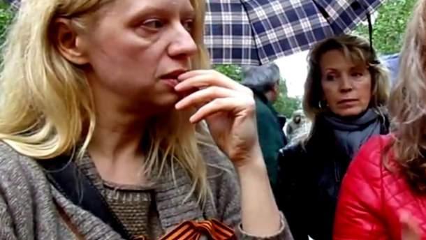 Валентина Лисица с георгиевской лентой