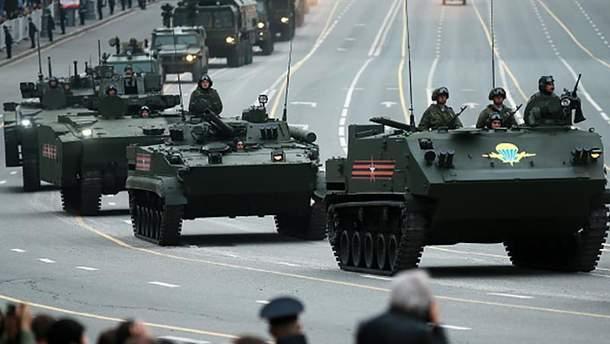 Приготовления к параду 9 мая в Москве