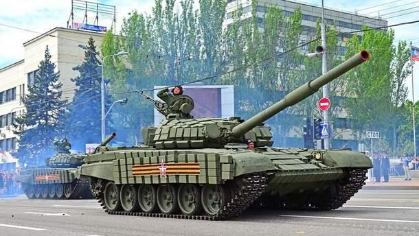 Танки в Донецке