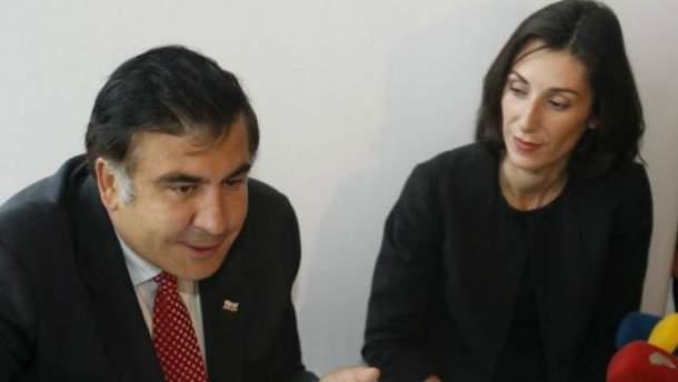 Михаил Саакашвили и Эка Згуладзе