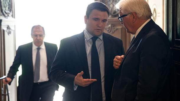 Сергей Лавров, Павел Климкин и Франк-Вальтер Штайнмайер