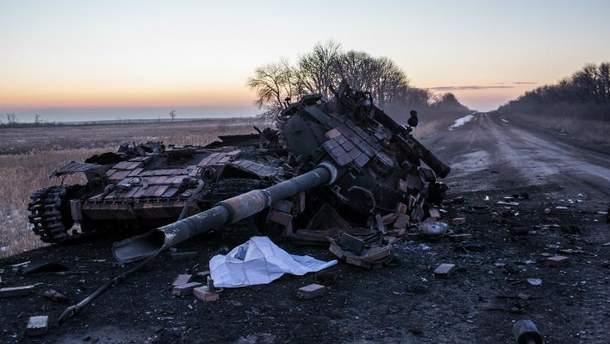 Спалений танк в зоні АТО