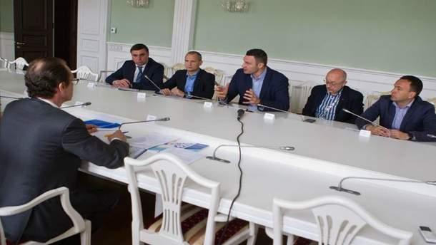 Встреча Виталия Кличко с Альгирдасом Шеметой