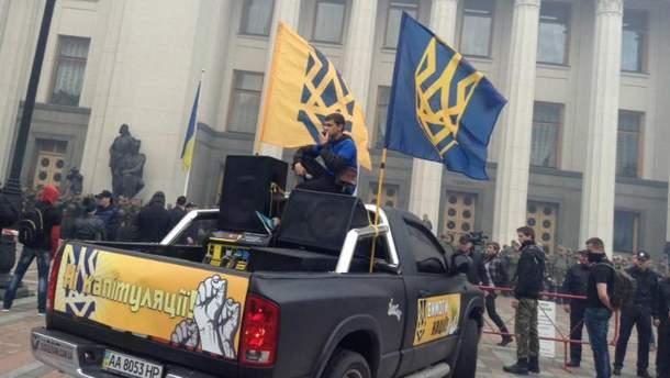 Марш азовцев под стенами Верховной Рады