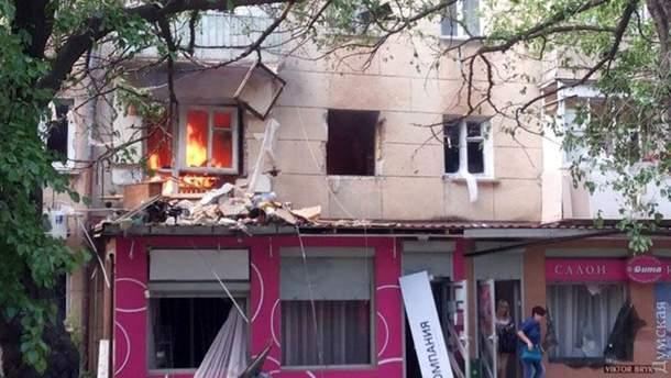 Пожар после взрыва