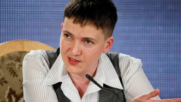 Надежда Савченко на пресс-конференции