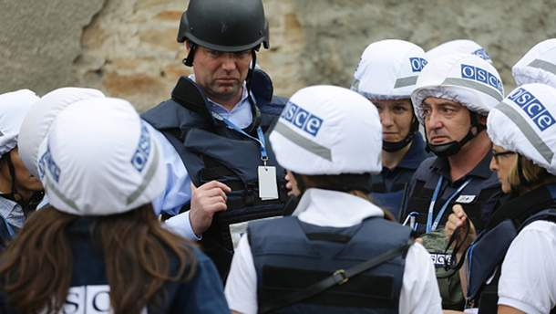 Представители миссии ОБСЕ на Донбассе