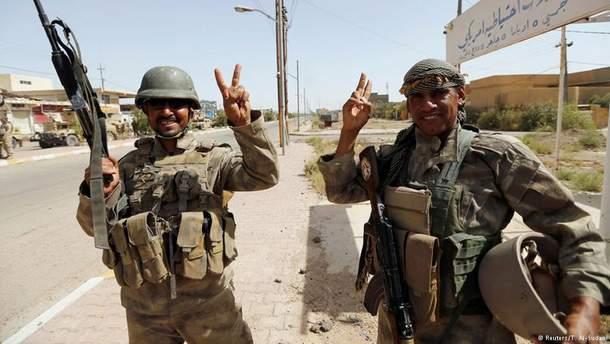 Іракські військові в місті Фаллуджа