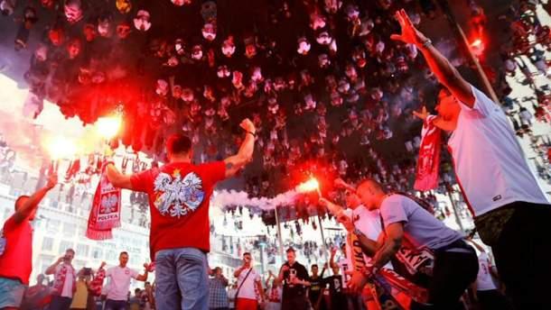 Польские фанаты на Евро-2016