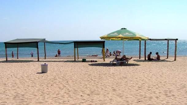 Пляж в оккупированном Крыму
