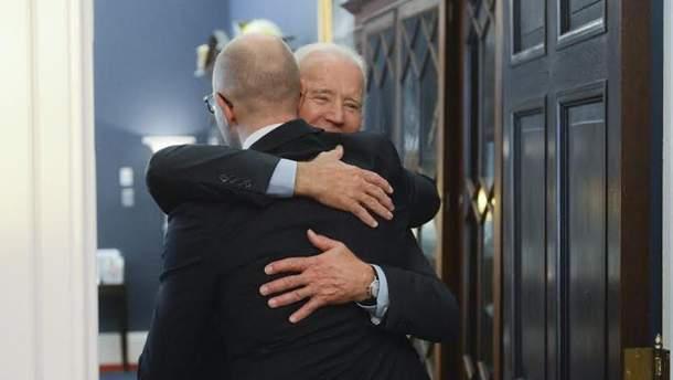 Встреча Арсения Яценюка с Джозефом Байденом