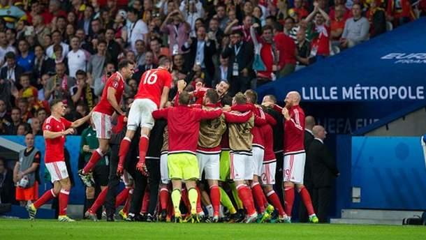 Валлійці святкують забитий гол