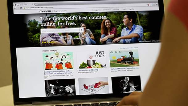 Сайт Coursera