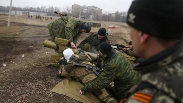 Боевики открыли огонь по позициям сил АТО