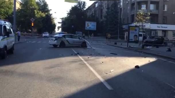 Смертельное ДТП с участием патрульных в Харькове
