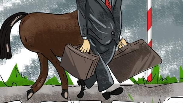 Карикатура недели. Побег скандального Онищенко