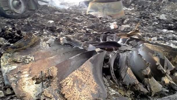 На місці катастрофи Boeing777