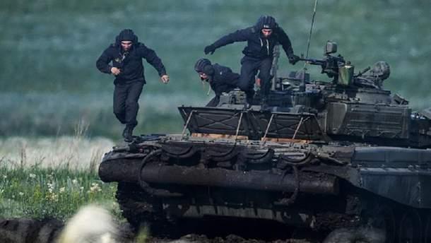 Российские военные на учениях