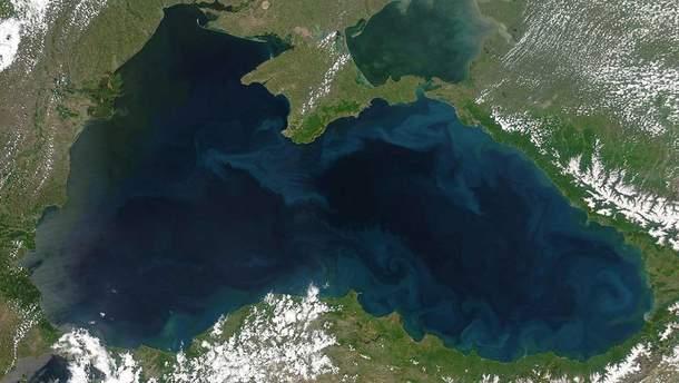 Черное море из космоса