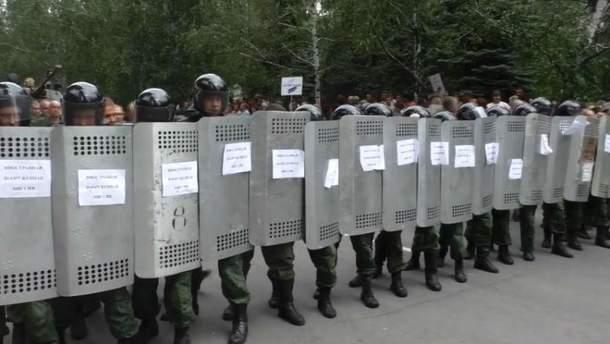 Військове тренування в окупованому Шахтарську