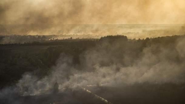 Пожежа у Чорнобилі. Ілюстрація
