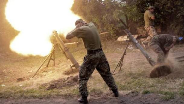 Террористы открыли огонь из 120-мм минометов