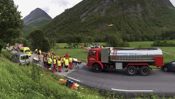 Аварія з українцями в Норвегії