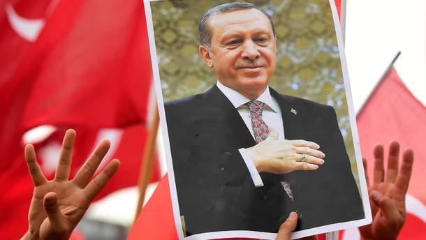 Плакат з президентом Туреччини Реджепом Таїпом Ердоганом