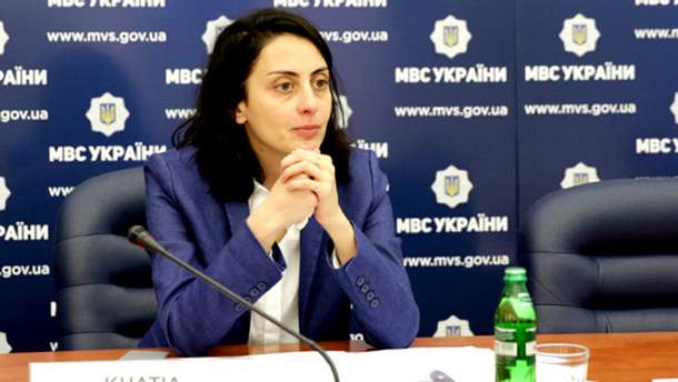Глава Національної поліції України Хатія Деканоідзе