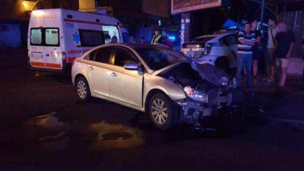 Последствия ДТП в Киеве
