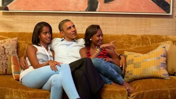Обама с дочерьми