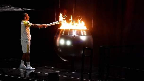 Запалення олімпійського вогню в Ріо