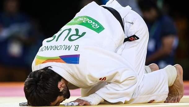Российский спортсмен на соревнованиях в Рио