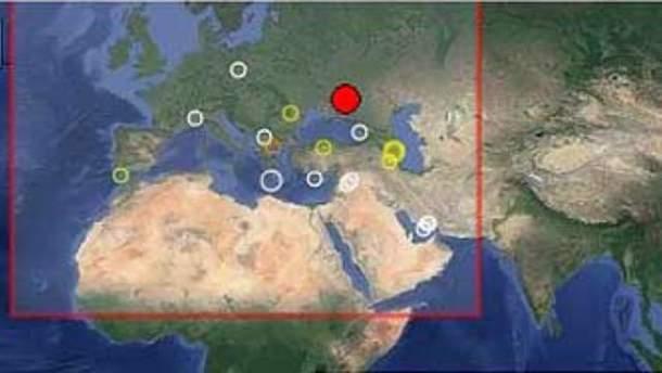 Землетрус відчули не лише в Україні