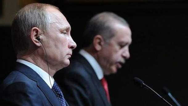 Реджеп Ердоган та Володимир Путін